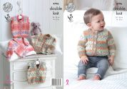 King Cole Baby Cardigan & Waistcoats Drifter for Baby Knitting Pattern 4796  DK
