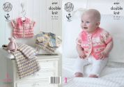 King Cole Baby Cardigans & Blanket Drifter for Baby Knitting Pattern 4797  DK