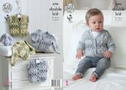King Cole Baby Cardigans & Waistcoats Drifter for Baby Knitting Pattern 4798  DK