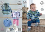 King Cole Baby Hoodie, Sweater, Cardigan & Socks Cherish & Cherished Knitting Pattern 4803  DK