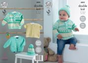 King Cole Baby Jacket, Sweater, Cardigan & Hat Cherish & Cherished Knitting Pattern 4805  DK