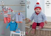 King Cole Baby Jacket, Sweater, Coat & Hat Cherish & Cherished Knitting Pattern 4807  DK