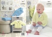 King Cole Baby Cardigans & Blanket Yummy Knitting Pattern 4819  Chunky