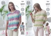 King Cole Ladies Tops Opium Knitting Pattern 4828