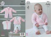 King Cole Baby Caots & Cardigans Big Value Knitting Pattern 4844  Chunky