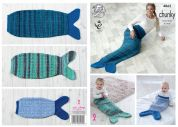 King Cole Baby, Girls & Ladies Mermaid Blankets Knitting Pattern 4865  Chunky