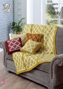 King Cole Home Cushions & Throw Big Value Knitting Pattern 4872  Super Chunky