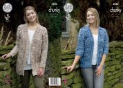 King Cole Ladies Jackets Big Value Tonal Knitting Pattern 4880  Chunky