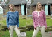 King Cole Ladies Sweater & Cardigan Big Value Tonal Knitting Pattern 4882  Chunky