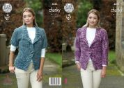 King Cole Ladies Jackets Big Value Tonal Knitting Pattern 4883  Chunky