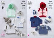 King Cole Baby Sweater, Hoodie & Hat Big Value Knitting Pattern 4888  DK