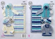 King Cole Baby Sweater, Jacket, Hat & Blanket Big Value Knitting Pattern 4889  DK