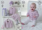 King Cole Baby Waistcoat & Cardigans Baby Pure Knitting Pattern 4903  DK