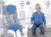 King Cole Baby Sweater, Slipover & Waistcoat Cherish & Cherished Knitting Pattern 4909  DK