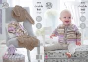 King Cole Baby Cardigan & Sweater Cherish & Cherished Knitting Pattern 4910  DK