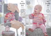 King Cole Baby Cardigans & Sweater Cherish & Cherished Knitting Pattern 4911  DK