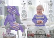 King Cole Baby Cardigan & Sweaters Cherish & Cherished Knitting Pattern 4913  DK