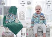 King Cole Baby Jacket, Waistcoat & Blanket Cherish & Cherished Knitting Pattern 4914  DK