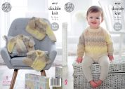 King Cole Baby Cardigans & Sweaters Melody Knitting Pattern 4917  DK