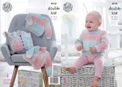 King Cole Baby Cardigans & Sweater Melody Knitting Pattern 4918  DK