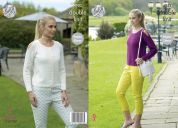 King Cole Ladies Sweaters Luxury Merino Knitting Pattern 4933  DK