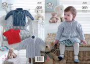 King Cole Baby Coat, Sweater & Pullover Comfort Knitting Pattern 4949  Aran