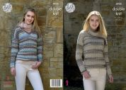 King Cole Ladies Sweaters Drifter Knitting Pattern 4958  DK