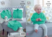 King Cole Baby Cardigans & Waistcoat Comfort Knitting Pattern 4968  DK