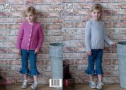 King Cole Girls Cardigan & Sweater Comfort Knitting Pattern 4969  Chunky