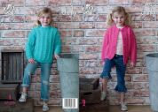 King Cole Girls Cardigan & Sweater Comfort Knitting Pattern 4972  Chunky
