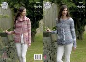 King Cole Ladies Cardigans Cotswold Knitting Pattern 4982  Chunky