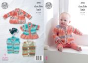 King Cole Baby Jackets & Gilets Knitting Pattern 4998  DK