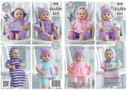 King Cole Doll Clothes Big Value Knitting Pattern 5000  DK
