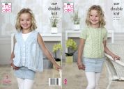 King Cole Girls Top & Waistcoat Calypso Knitting Pattern 5039  DK