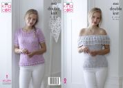 King Cole Ladies Tops Calypso Knitting Pattern 5043  DK