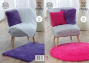 King Cole Home Blankets, Cushions & Rugs Tufty Knitting Pattern 5050