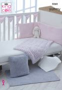 King Cole Baby Blanket & Accessories Yummy Knitting Pattern 5060  Chunky