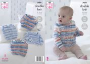 King Cole Baby Sweaters & Slipovers Candystripe Knitting Pattern 5069  DK