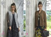 King Cole Ladies Waistcoat & Cardigan Merino Knitting Pattern 5076  DK