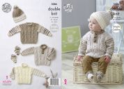 King Cole Baby Sweaters, Hats & Socks Cherish Knitting Pattern 5086  DK