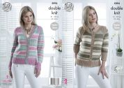 King Cole Ladies Cardigans Cottonsoft Crush Knitting Pattern 5094  DK