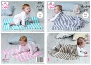 King Cole Baby Blankets Cottonsoft Baby Crush Knitting Pattern 5101  DK