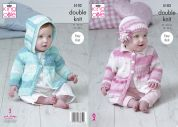 King Cole Baby Cardigans & Top Cottonsoft Baby Crush Knitting Pattern 5102  DK