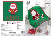 King Cole Christmas Blanket & Amigurumi Toy Crochet Pattern 5117  DK