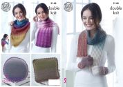 King Cole Ladies Accessories Curiosity Knitting Pattern 5148  DK