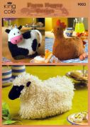 King Cole Animal Shape Tea Cosies Merino Knitting Pattern 9003  DK