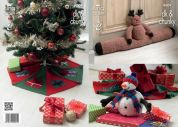 King Cole Christmas Tree Skirt, Draft Excluder & Toy Cuddles Knitting Pattern 9009  DK, Chunky