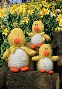 King Cole Easter Duck Toys Cuddles Knitting Pattern 9020  DK, Chunky