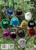 King Cole Owl Toys Tinsel Knitting Pattern 9022  Chunky