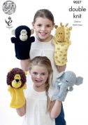 King Cole Animal Hand Puppet Toys Pricewise Knitting Pattern 9027  DK